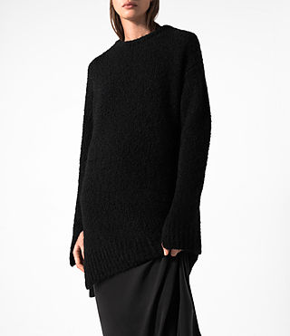Women's Satellite Crew Jumper (Black) - product_image_alt_text_2