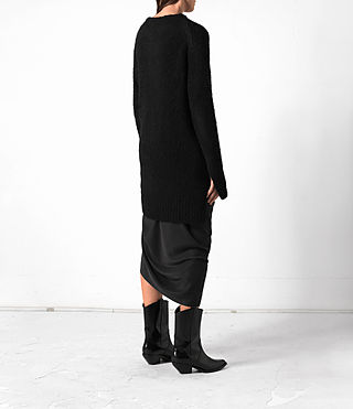 Women's Satellite Crew Jumper (Black) - product_image_alt_text_4