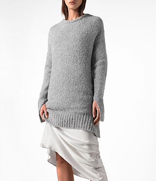 Mujer Satellite Crew Jumper (Grey) - product_image_alt_text_2