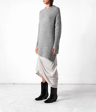 Mujer Satellite Crew Jumper (Grey) - product_image_alt_text_3