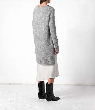 Mujer Satellite Crew Jumper (Grey) - product_image_alt_text_4