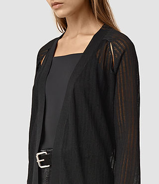Mujer Elos Cardigan (Black) - product_image_alt_text_2