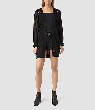 Mujer Elos Cardigan (Black) - product_image_alt_text_3
