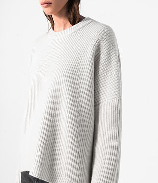 Mujer Earth Crew Cashmere Jumper (PORCELAIN WHITE) - product_image_alt_text_2
