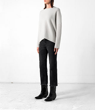 Mujer Earth Crew Cashmere Jumper (PORCELAIN WHITE) - product_image_alt_text_3