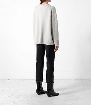 Mujer Earth Crew Cashmere Jumper (PORCELAIN WHITE) - product_image_alt_text_4