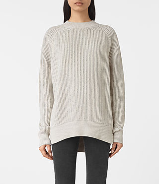 Women's Lovisa Embellished Jumper (OYSTER WHITE)