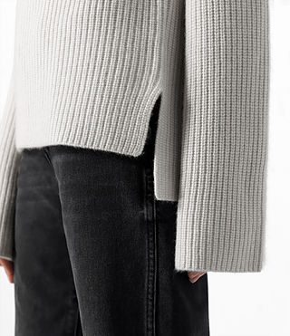 Mujer Earth Roll Neck Cashmere Jumper (PORCELAIN WHITE) - product_image_alt_text_4