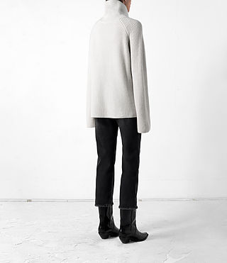Mujer Earth Roll Neck Cashmere Jumper (PORCELAIN WHITE) - product_image_alt_text_5