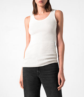 Femmes Shins Vest (CREAM WHITE) - product_image_alt_text_2