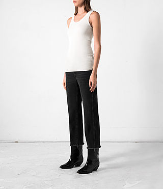 Femmes Shins Vest (CREAM WHITE) - product_image_alt_text_3