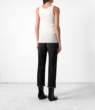 Femmes Shins Vest (CREAM WHITE) - product_image_alt_text_4