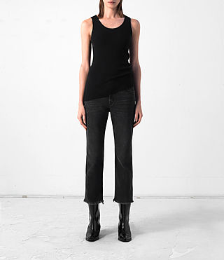 Damen Shins Cashmere Vest (Black)
