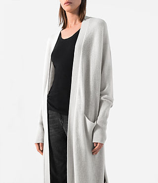 Donne Eyes Cashmere Cardigan (PORCELAIN WHITE) - product_image_alt_text_2