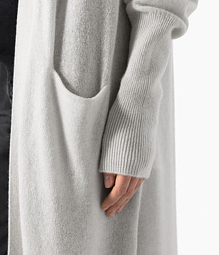 Donne Eyes Cashmere Cardigan (PORCELAIN WHITE) - product_image_alt_text_3
