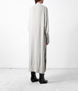 Donne Eyes Cashmere Cardigan (PORCELAIN WHITE) - product_image_alt_text_4