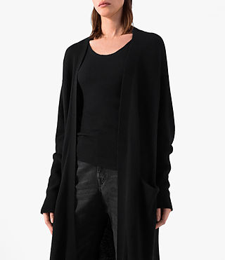 Femmes Eyes Cardigan (Black) - product_image_alt_text_2