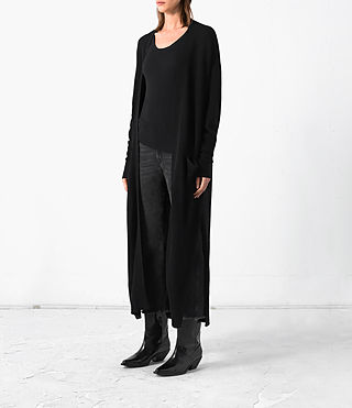 Femmes Eyes Cardigan (Black) - product_image_alt_text_3