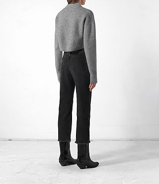 Femmes Cropped Naomi Jumper (Light Grey) - product_image_alt_text_4