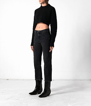 Damen Cropped Naomi Jumper (Black) - product_image_alt_text_3