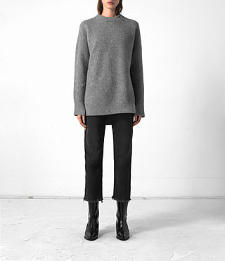 Mujer Long Naomi Jumper (Light Grey) -