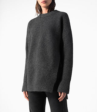 Donne Long Naomi Jumper (Charcoal Grey) - product_image_alt_text_2