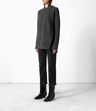 Donne Long Naomi Jumper (Charcoal Grey) - product_image_alt_text_3