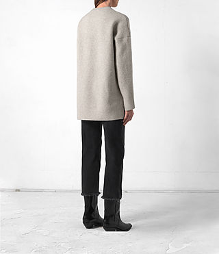 Femmes Long Naomi Jumper (Pebble Grey) - product_image_alt_text_4