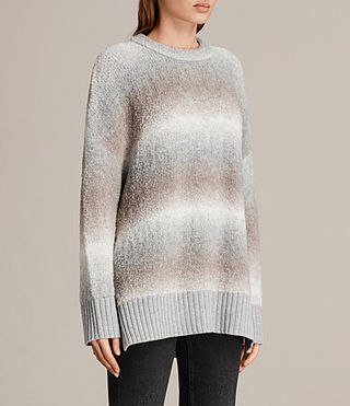 Womens Ikarus Crew Sweater (Taupe Marl) - Image 3