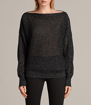 elle metallic sweater
