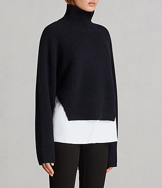 Womens Jones Sweater (Ink Blue) - Image 3