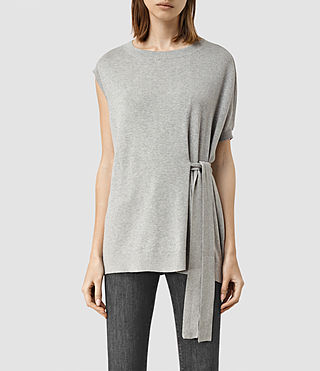 Women's Shera Top (Grey Marl)
