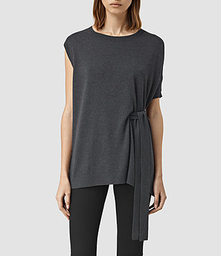 Mujer Shera Top (Cinder Black Marl) - product_image_alt_text_1
