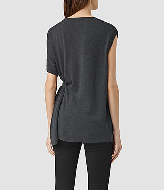Womens Shera Top (Cinder Black Marl) - product_image_alt_text_3