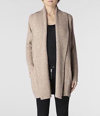 Womens Marquis Cardigan (Oatmeal Marl) - product_image_alt_text_1