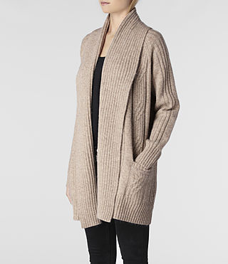 Womens Marquis Cardigan (Oatmeal Marl) - product_image_alt_text_2