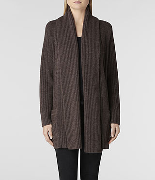 Womens Marquis Cardigan (Earth Marl) - product_image_alt_text_1