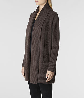 Womens Marquis Cardigan (Earth Marl) - product_image_alt_text_2