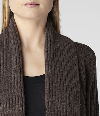 Womens Marquis Cardigan (Earth Marl) - product_image_alt_text_4