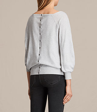 Womens Elgar Cowl Neck Sweater (Grey Marl) - product_image_alt_text_3