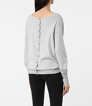 Womens Elgar Cowl Neck Sweater (Grey Marl) - product_image_alt_text_4