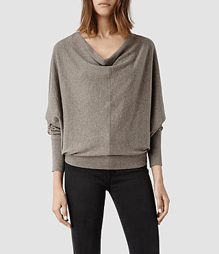 Womens Elgar Cowl Neck Sweater (Midnight) - product_image_alt_text_1
