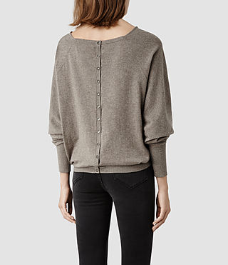 Womens Elgar Cowl Neck Sweater (Charcoal) - product_image_alt_text_3
