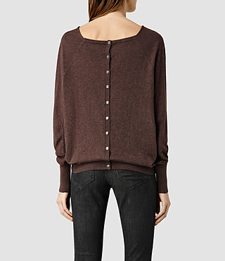 Womens Elgar Cowl Neck Sweater (RUM RED MARL) - product_image_alt_text_3