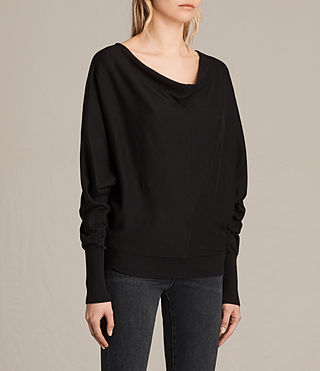 Womens Elgar Cowl Neck Sweater (Black) - product_image_alt_text_3