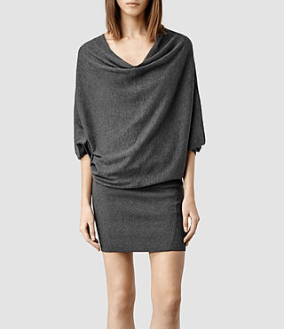 Womens Elgar Sweater Dress (Charcoal)