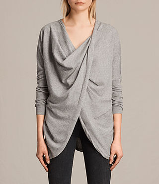 Womens Itat Shrug (Grey Marl)