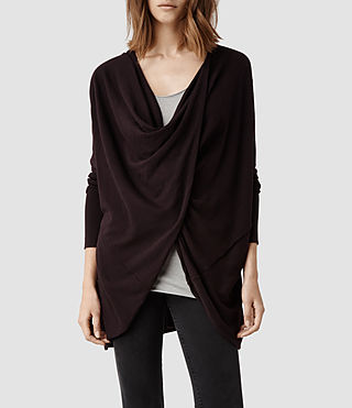Womens Itat Shrug (Deep Burgundy)