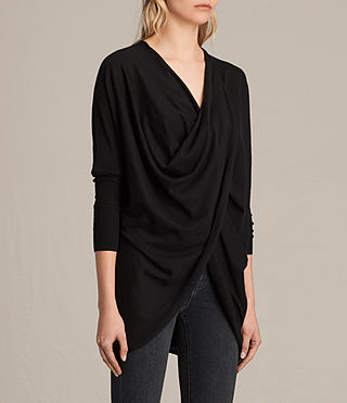 Womens Itat Shrug Cardigan (Black) - product_image_alt_text_2