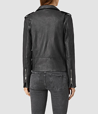 Mujer Rawley Leather Biker Jacket (Black) - product_image_alt_text_3